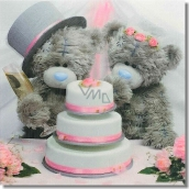 Me to You Envelope Greeting Card 3D Wedding Bears with Cake 15.5 x 15.5 cm