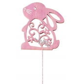 Hare pitched 8 cm pink + wire
