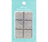 Nail Accessory Hollow Sticker nail templates multicolored two ripples 1 sheet 129