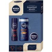 Nivea Men Gameday Sport 250 ml men's shower gel + 150 ml men's antiperspirant spray + 30 ml creme cream