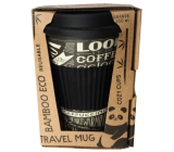 Cozy Time Bamboo Eco Chalkboard bamboo ecological thermo mug + silicone cap black - lettering 450 ml