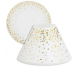 Yankee Candle Holiday Party Shade Small 8 x 9 cm + Small Plate 9 x 9 cm Small Candle Classic