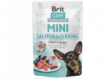 Brit Care Mini Salmon & Herring Fillets In Gravy complete super premium food for neutered adult dogs mini breeds pocket 85 g