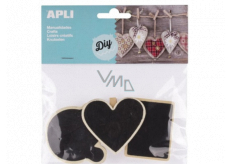 Apli Wooden pegs with label plate 3 pieces