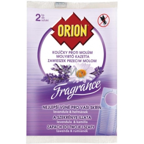 Orion Fragrance Lavender & Chamomile pegs against moths 2 pieces