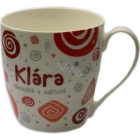 Nekupto Twister mug named Klara red 0.4 liter