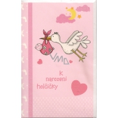 Nekupto Baby Birthday Card Baby Girl 136 x 210 mm