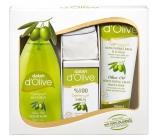Dalan d Olive liquid soap 400 ml + toilet soap 150 g + emollient cream 250 ml + washcloth, cosmetic set