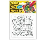 Folding coloring book Zebra 25 pieces 18 x 12 cm