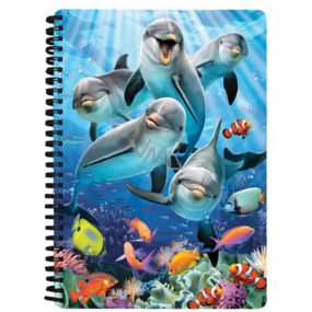 Prime3D notebook A5 - Dolphins 14.8 x 21 cm
