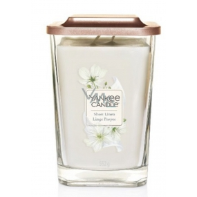 Yankee Candle Sheer Linen - Pure Linen Soy Scented Candle Elevation Large Glass 2 Wicks 552 g