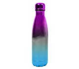 Metallic pink-white-blue thermo bottle