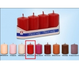 Lima Candle smooth red cylinder 40 x 70 mm 4 pieces