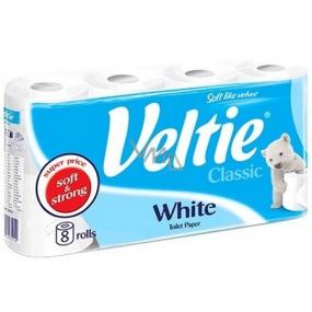 Veltie White toilet paper white 2 ply 180 snatches 8 rolls