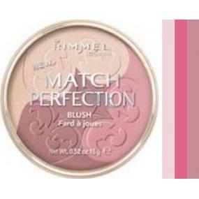 Rimmel London Match Perfection Trio Blush 003 Medium 15 g