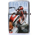 Bohemia Gifts Retro metal petrol lighter with print Motorka Jawa 5.5 x 3.5 x 1.2 cm