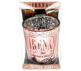 Albi Shimmering candle holder made of glass for tea candle IRENA, 7 cm