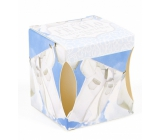 Albi Fresh linen scented candle in a box, burns 15 hours 52 g