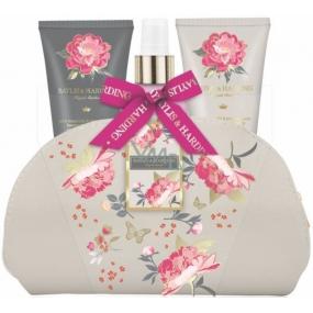 Baylis & Harding Pink magnolia and pear blossom shower cream 50 ml + hand and body lotion 50 ml + body spray 100 ml + cosmetic handbag, cosmetic set