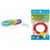 Trixline Mosquito Repellent waterproof bracelet - mosquito net with citriodiol 1 piece, TR 351 random color selection