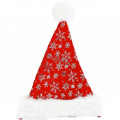 Santa's hat with silver flakes 38 x 30 cm