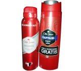 Old Spice Original deodorant spray 150 ml + Captain 2 in 1 shower gel for body and hair 250 ml, cosmetic set