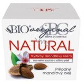 Bione Cosmetics Mandle original natural výživný mandlový krém velmi suchá a citlivá pleť 51 ml