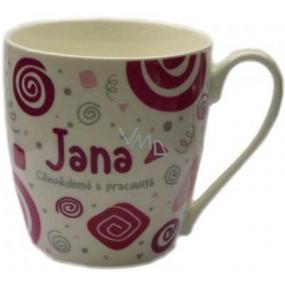Nekupto Twister mug named Jana pink 0.4 liters