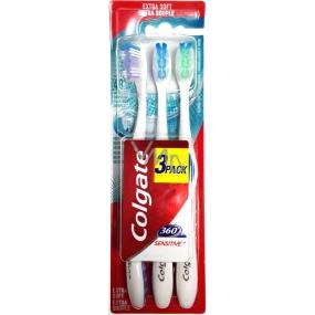 Colgate 360° Sensitive Extra soft extra měkký zubní kartáček 3 kusy