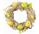 Easter wreath, yellow-green 22 cm