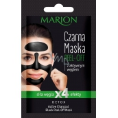 Marion Detox Black Peel Off with activated charcoal and liquorice extract for pore release peeling face mask 6 g