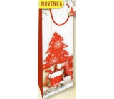 Nekupto Gift paper bag for bottle 33 x 10 x 9 cm Christmas 1817 30 WLH