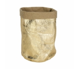 Albi Eco basket made of washable paper, small - gold, height 14 cm