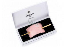 Balmain Paris Pastel Pink Embossed Hair light pink hair clip 5 x 15 x 0.3 cm
