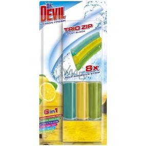 Dr. Devil Lemon Fresh 6v1 Trio Zip Wc samolepící blok 60 g
