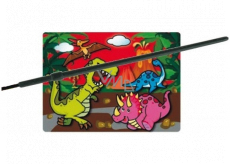 Magic water painting with brush Dinosaurs 20 x 15 cm