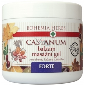 Bohemia Gifts & Cosmetics Castanum Horse chestnut extract Forte extra strong balm massage gel 600 ml