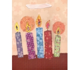 Nekupto Gift Paper Bag Medium 23 x 18 x 9 cm Mat Application Candle 1430 LBM