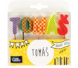 Albi Cake candles name - Tomas, 2,5 cm