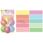 Shrink decoration for eggs with polka dots 10 pieces + 10 stands