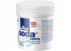 Vitar Soda tablets against heartburn, stomach pressure and when feeling full 150 pieces