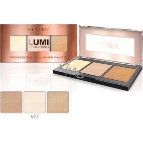 Revers Lumi Strobing Professional Highlighter Palette Brightener Palette 03 12.5 g