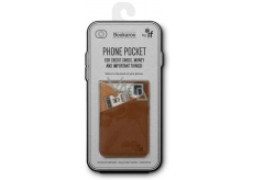 If Bookaroo Phone Pocket Case - phone pocket for documents brown 195 x 95 x 18 mm
