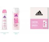 Adidas Control Smooth antiperspirant deodorant spray for women 150 ml + shower gel 250 ml, cosmetic set