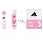 Adidas Control Smooth antiperspirant deodorant spray for women 150 ml + shower gel 250 ml, cosmetic set