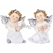Little angel sitting polystone on a standing mix 130 x 150 mm
