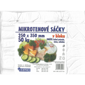 Impro Microtene bag in a block of 12my 250 x 350 mm 50 pieces