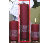 Lima Ribbon candle wine cylinder 60 x 220 mm 1 piece