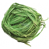 Raffia green colored bast for decoration 30 g