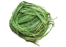 Raffia green colored bast for decoration 30 g